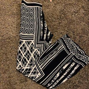 Black and beige palazzo pants